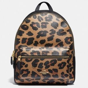 Coach Medium Charlie Backpack - Leopard Print